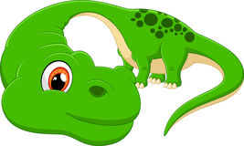 Cartoon cute Diplodocus illustration Royalty Free Stock Image