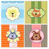 Cartoon cute dogs Royalty Free Stock Photos