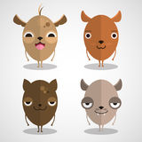 Cartoon cute dogs set Royalty Free Stock Image