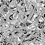 Cartoon cute doodles Classical music seamless pattern Royalty Free Stock Images