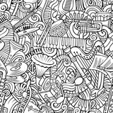 Cartoon cute doodles Classical music seamless pattern Royalty Free Stock Photography