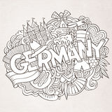 Cartoon cute doodles Germany illustration Stock Image