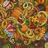 Cartoon cute doodles hand drawn autumn illustration Royalty Free Stock Photography
