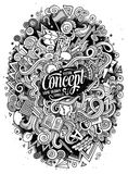 Cartoon cute doodles hand drawn Idea illustration Stock Photography