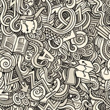 Cartoon cute doodles hand drawn Idea seamless pattern Stock Photography