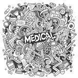 Cartoon cute doodles hand drawn Medical illustration Royalty Free Stock Image