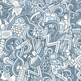 Cartoon cute doodles hand drawn Medical seamless pattern Stock Photos