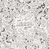 Cartoon cute doodles Medical frame Stock Images