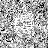 Cartoon cute doodles Medical frame Royalty Free Stock Photos