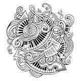 Cartoon cute doodles Music illustration stock illustration