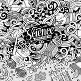 Cartoon cute doodles science frame illustration Royalty Free Stock Photos
