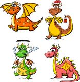 Cartoon cute dragon, a symbol 2012,vector Stock Photo