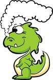Cartoon cute dragon, vector Royalty Free Stock Image