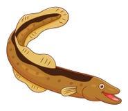 Cartoon cute eel Stock Photo