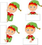 Cartoon cute elf with blank Stock Image