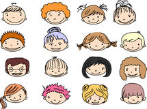Cartoon cute faces,vector Royalty Free Stock Photography