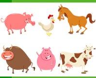 Cartoon cute farm animal characters set. Cartoon Vector Illustration of Cute Funny Farm Animal Characters Set royalty free illustration