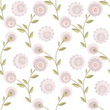 Cartoon cute flowers seamless pattern Stock Photography