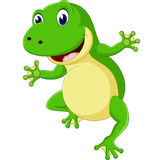 Cartoon cute frog Stock Photography