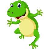 Cartoon cute frog. Of illustration vector illustration