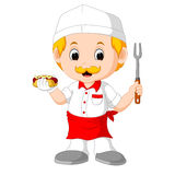 Cartoon cute funny chef Royalty Free Stock Photos