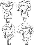 Cartoon cute girl,vector Royalty Free Stock Image