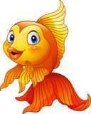 Cartoon cute goldfish stock illustration