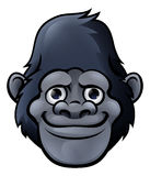 Cartoon Cute Gorilla Face Stock Photography