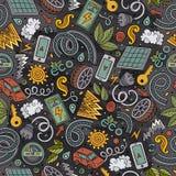 Cartoon cute hand drawn automotive seamless pattern Royalty Free Stock Photos