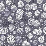 Cartoon cute hand drawn Xmass seamless pattern. Colorful with lots of objects background. Endless funny vector illustration Royalty Free Stock Images