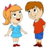 Cartoon cute happy kids royalty free illustration