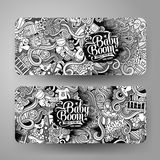 Cartoon  doodles baby boom banners Royalty Free Stock Photography