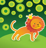 Cartoon cute lion Stock Images