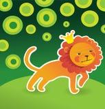 Cartoon cute lion Stock Images