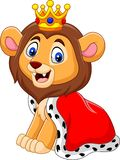 Cartoon cute Lion king. Illustration of Cartoon cute Lion king stock illustration