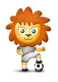 Cartoon cute lion, paper texture isolated Stock Image