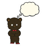 Cartoon cute little bear with thought bubble Stock Photo