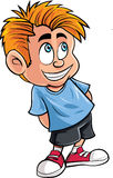 Cartoon of cute little boy Stock Photography