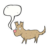 Cartoon cute little dog with speech bubble Stock Image