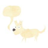 cartoon cute little dog with speech bubble Stock Photography