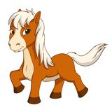 Cartoon cute little horse royalty free illustration