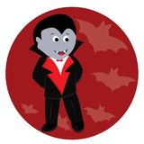 Cartoon cute little vampire royalty free illustration