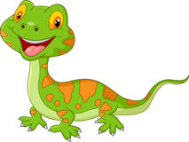 Cartoon cute lizard Stock Photos