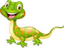 Cartoon cute lizard. Royalty Free Stock Photography