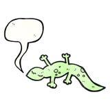 Cartoon cute lizard Royalty Free Stock Photos