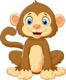 Cartoon cute monkey sitting Stock Photo