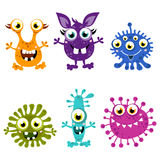 Cartoon Cute Monster Set.Colorful monsters with different emotions Royalty Free Stock Photography