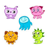 Cartoon cute monsters Royalty Free Stock Image