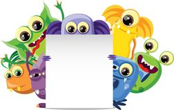 Cartoon cute monsters,vector Royalty Free Stock Photo