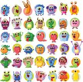 Cartoon cute monsters,vector Royalty Free Stock Images